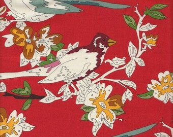Moda, LUSH, Uptown, Erin Michael, Paint by Number Birds in Red, 1/2 Yard
