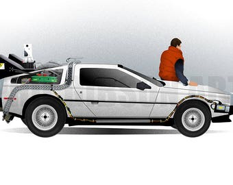 "Original ""If You're Going to Build a Time Machine""  Art Print Poster Back to the Future"