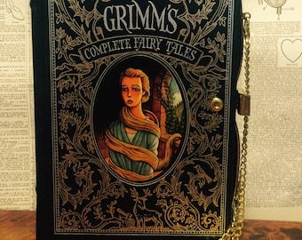Book Clutch Grimm's Complete Fairy Tales Rapunzel Cover Book Purse Ready to Ship