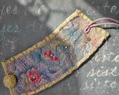 Big Island Night Textile Assemblage Cuff Bracelet
