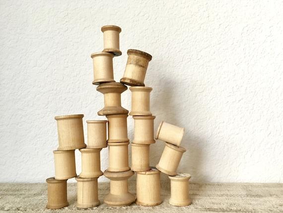 Vintage Wooden Spools, Set of 20