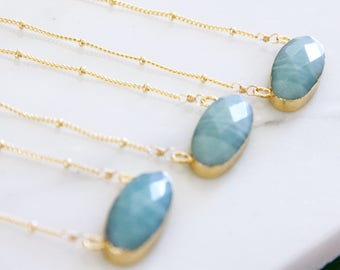 Faceted Amazonite Necklace