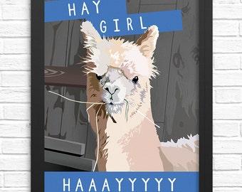 Alpaca Wall Art. Alpaca print. Funny alpaca artwork. Alpaca art print, llama wall decors, llama gifts for her, llama art prints, llama print