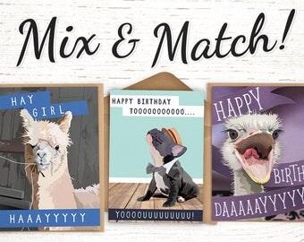 bulk birthday cards  etsy, Birthday card