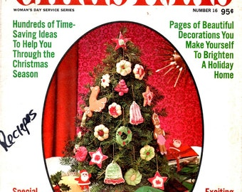Woman's Day Best Ideas for Christmas Decorations Xmas Tree Ornaments Gifts Recipes Time Saving Ideas Craft Pattern Magazine 16 1974