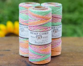 Hemp Cord, Neon, 1mm, 20lb,   Hemp Twine, Neon Cord,   Hemptique  -T43