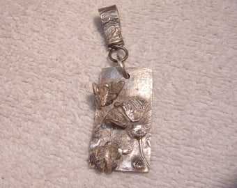 Silver butterfly Pendant - Beautiful! OOAK!