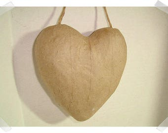 Paper Mache Heart w/hanging loop /Holiday Decor/ Craft Supplies*