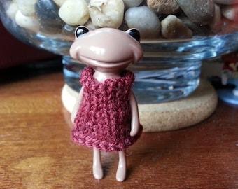 Fortune Wanda Friend - knit dress - rust - Wanda Frog - Wonder frog