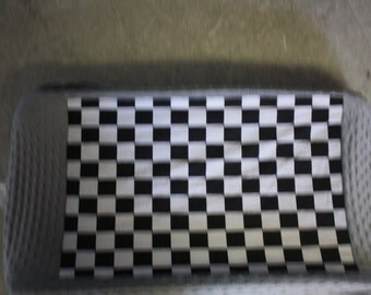 black checker gray changing pad cover