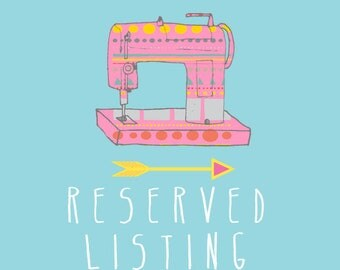 RESERVED listing especially for Krista Rodriguez