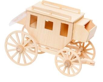 Stagecoach wood model kit