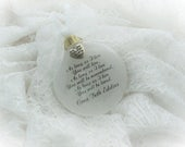 Memorial Ornament, As Long As I Live You Will Live, Free Personalization and Charm