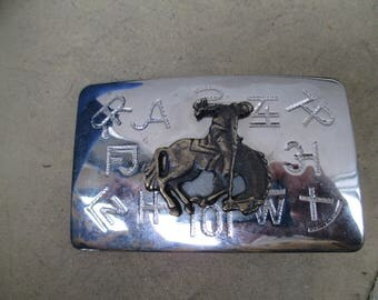 Chambers Belt Co chrome ranch branding Iron marks  Western attire cowboy rodeo bucking horse made in USA