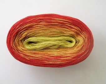 MARGARITA -- Color Changing Cotton yarn -- 240 yards/50 gr --  Fingering Weight
