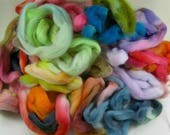 Mixed Fiber Bag#1 for spinning and felting (4 ounces)