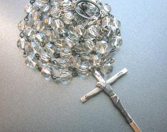 Sterling Silver Crystal Vintage Rosary