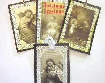 Handmade Holiday Gift Tag Variety Holy Card Baby Jesus Lamb of God