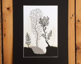 Winter Forest Original Papercut