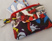 Zipper Wallet Pouch Key Card holder -Marvel Comic Super Heroes Spider Man