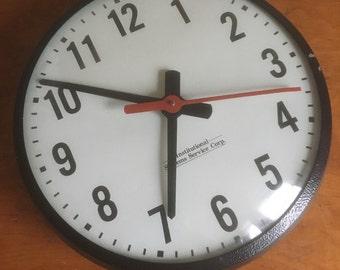 """Vintage 12"""" School Clock."""