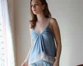 stretch silk camisole with embroidered lace trim - ALICE bridal range - made to order