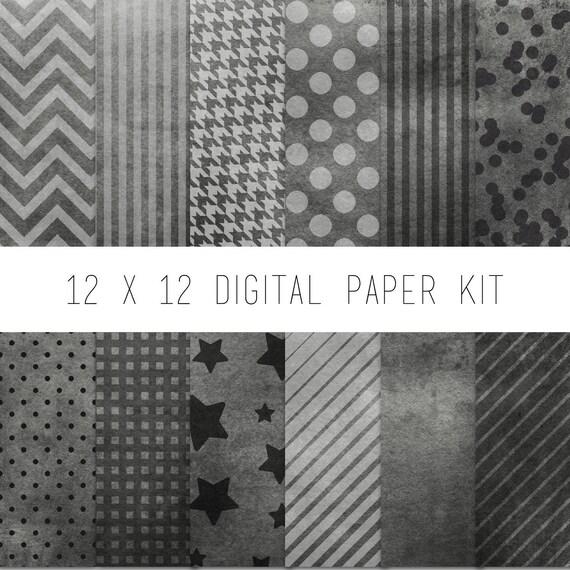 digital paper kit digital scrapbook pattern paper instant