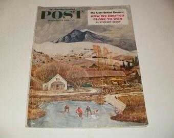 Vintage Saturday Evening Post Magazine December 13 1958 - Vintage Ads - Car Ads - Scrapbooking Retro Collectible Paper Ephemera