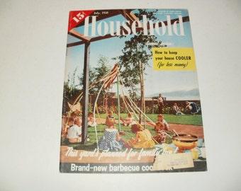 Vintage Household Magazine July 1958  - Fashion, Retro Vintage 1958 Chevrolet Ad, Scrapbooking, Paper Ephemera