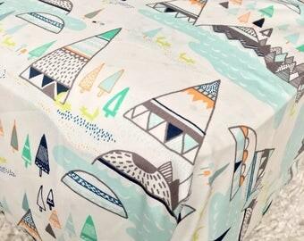 Mint Tee Pees Cotton Crib Sheet, Mint Crib Sheet, Fitted Crib Sheet, Sheet for Baby, Crib Sheet for Baby Boy or Girl, Standard Crib Sheet