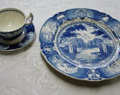 Vintage MCM Wedgewood Naval Academy China Service for 8