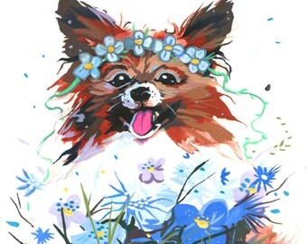 "Your own custom pet painting 4.5""x6"""