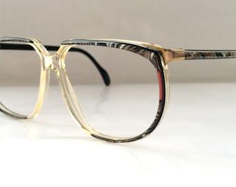 80s Vintage German Metzler Art Deco Womens Eyeglasses
