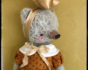 SPRING IS COMING 12 inch Artist Handmade Mohair Teddy Bear Valerie by Sasha Pokrass