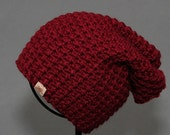 Crochet Slouch Hat PATTERN BURNABY Slouchy Hat Pattern Includes 6 Sizes