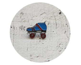 Roller Skate Lapel Pin, Enamel Pin, Roller Derby Athlete, Quad Speed Skate, Team USA, Red White and Blue,  Junior Derby Girl, Jammer Gift
