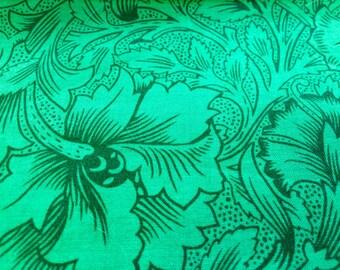 Kaffe Fassett Stencil Carnation, malachite green, OOP, rare, vhtf, early Westminster print