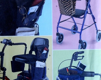Wheelchair Bag Sewing Pattern UNCUT Simplicity 2382 walker scooter