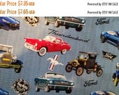 Gorgeous VIntage Cars Fabric--Great for Quilting--Shirts n more--HARD Find--40-70% off Patterns n Books SALE