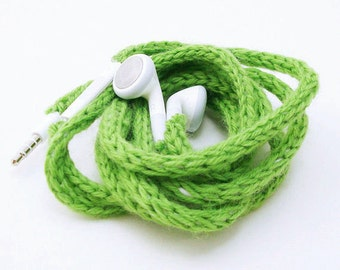 50% OFF CLEARANCE SALE Tangle-Free Earbuds in Spring Green, Authentic Apple Earbuds