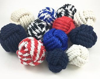 Monkey Fist Knot Table Number Holders for Weddings or Nautical Decor - 11 Styles to Choose From