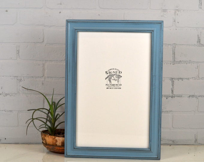 """11x17 Picture Frame in Diplomat Style with Vintage Black under Smokey Finish - Handmade 11 x 17"""" Photo Frame - IN STOCK - Same Day Shipping"""
