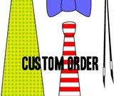 Custom Order for Kristin, 8 Mens Self-Tie Bow Ties, 2 Boys Pre-tied Bow Ties