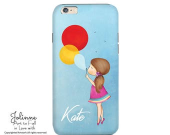 Samsung and Iphone Case,Personalized Name Case,Kids Phone Case Design,Children's Phone Protective Cover Case,Girls Birthday Gift Customized