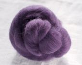 Merino Wool Top 100%, Needle Felting Wool, Wool Roving, Hand Spinning, Pansy Purple, Merino Wool Felt, High Quality Soft Merino Wool, mw09
