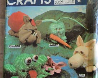 McCall's Crafts 655 HUGACHUM Plush Animal Sewing Pattern UNCUT