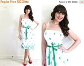 ON SALE 50s Floral Dress / 50s 60s Dress / 50s Sundress