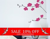 Sale - Orchid Flower Decal - Nature Vinyl Wall Decal