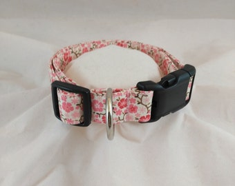 Pink Cowgirl Calico Dog Collar, Pink Cowgirl Calico Cat Collar