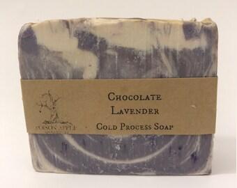 Chocolate Lavender Cold Process Soap